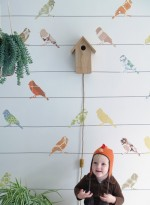 Wallpaper Birds on a wire by Inke