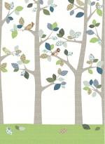 Wallpaper forest in june by Inke