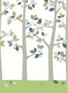 Papier peint Forêt en juin par Inke