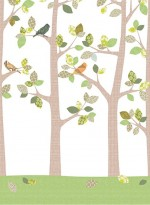 Wallpaper forest in september by Inke
