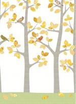 Papier peint Forêt en octobre par Inke
