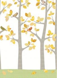 Wallpaper forest in October by Inke