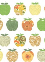 Wallpaper Fruits 'orange' by Inke