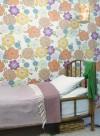 Papier peint Fleurs vintage multicolore par Inke
