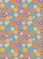 Papier peint Fleurs vintage bleu par Inke