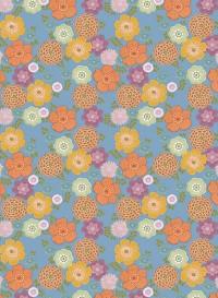 Vintage blue flowers wallpaper by Inke