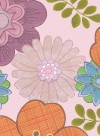 Vintage flowers pink background wallpaper by Inke