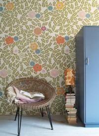 Vintage leaves white background wallpaper by Inke