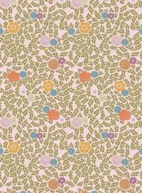 Vintage leaves pink background wallpaper by Inke