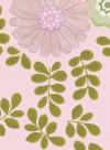Papier peint Feuillage vintage fond rose par Inke