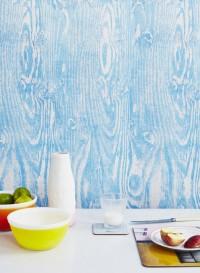 Papier peint écorce bleue Woodgrain