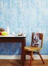 Woodgrain blue papier peint par Ella Doran