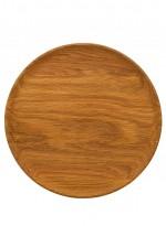 Round wooden serving platter