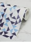 Papier peint géométrique Bermondsey Square Mat Blue