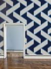 Papier peint géométrique Overscale Accent Curve Sky blue