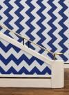 Papier peint géométrique Overscale Curve bleu