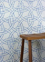 New Cross embroidered wallpaper