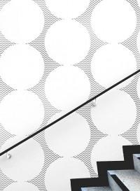 Pewter Curve geometric wallpaper
