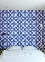 Palladian Loop blue geometric wallpaper