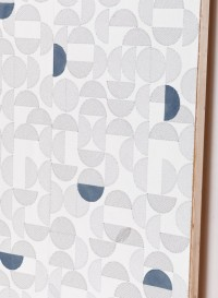 Arc embroidered wallpaper
