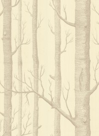 Papier peint Woods marron sur crème