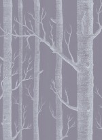 Woods wallpaper white and mauve