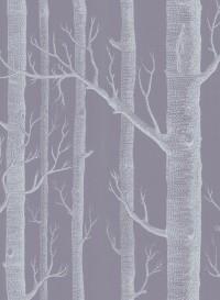 Papier peint Woods blanc sur mauve