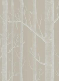 Papier peint Woods blanc sur beige