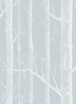 Woods wallpaper white and grey/blue