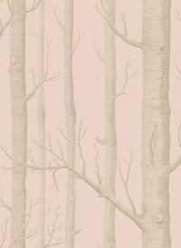 Wallpaper Woods silver and pink
