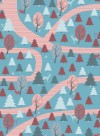 Forest wallpaper red/blue by Inke