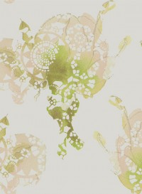 Rose indigo, transitional wallpaper by Lene Toni Kjeld