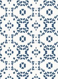 Leaf indigo transitional wallpaper by Lene Toni Kjeld