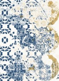 Leaf-Lace indigo, papier-peint évolutif par Lene Toni Kjeld