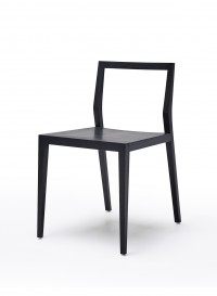 Ghost chair in stained black ash designed by Mint