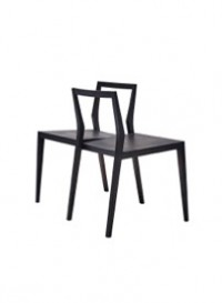 Ghost double chair in stained black ash designed by Mint