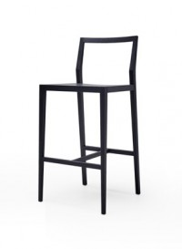 Ghost high stool in stained black ash designed by Mint