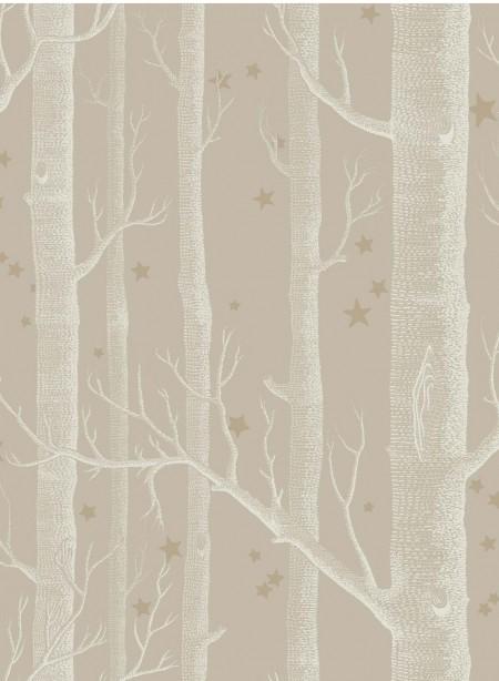 Papier peint Woods and Stars blanc sur beige par Cole and Son