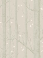Woods and stars wallpaper grey background by Cole and Son