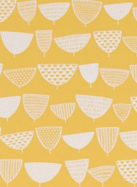 Papier peint Allsorts Mellow jaune par Missprint