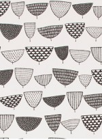 Allsorts Duo black and white wallpaper by Missprint