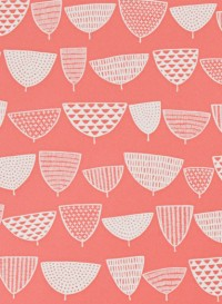 Allsorts coral wallpaper by Missprint