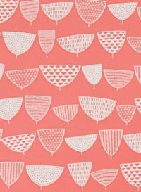 Papier peint Allsorts Coral par Missprint