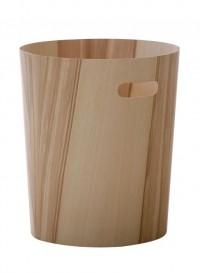 Corbeille en feuille de bois par Mint