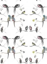 Papier peint Perched Birds crème de Louise Body