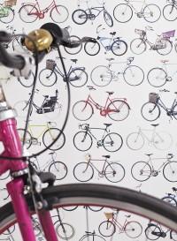 Bikes of Hackney wallpaper by Ella Doran