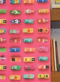 Gridlock cars cerise wallpaper by Ella Doran