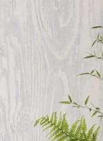Woodgrain grey trompe l'oeil wallpaper