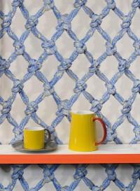 Diamond Rope trompe l'oeil wallpaper