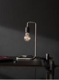 Brushed steel lamp Reade